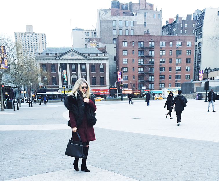 Heleneisfor bb dakota, Céline Edge bag, Free People boots, NYC