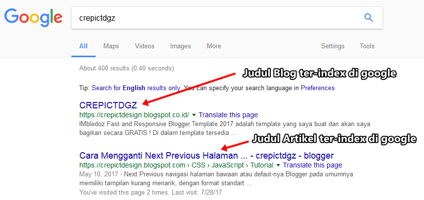 Mengatasi Artikel Tidak Terindex Oleh Google