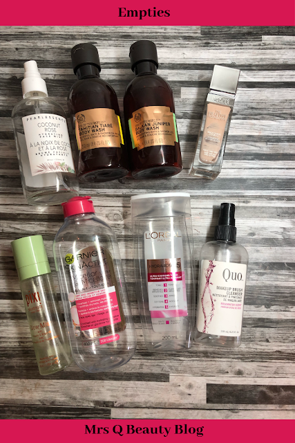 Body Shop, Pearlessence, LOreal, Pixi, Garnier, Quo, Physicians Formula)