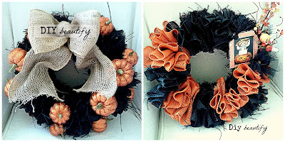 Easy Burlap Wreaths www.diybeautify.com