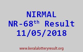 NIRMAL Lottery NR 68 Result 11-05-2018