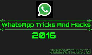 20 Best WhatsApp Tricks And Hacks 2016