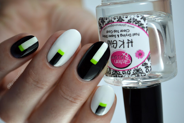 neon green monochrome nail art ideas minimalistic