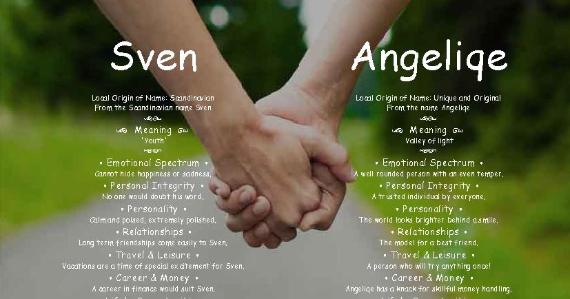 Sven and Angeliqe - Angies Creation Dual Names