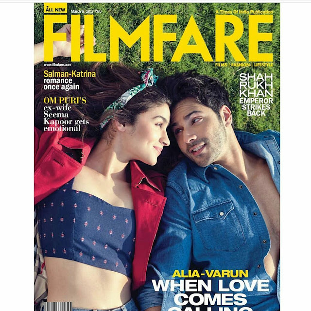 Alia Bhatt and Varun Dhawan Sizzles on The March 2017 Issue of Filmfare
