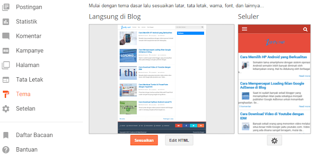 ganti template blog blogger custom