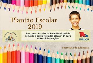 Itiruçu: Plantão Escolar de matriculas vão até dia 08/02