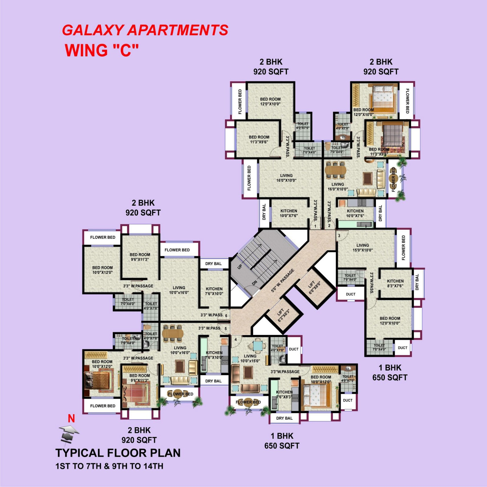 HDIL ''Galaxy Apartments ''Under Construction: 1BHK, 2BHK ...