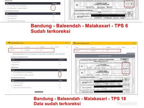 Salah entri KPU Kab Bandung