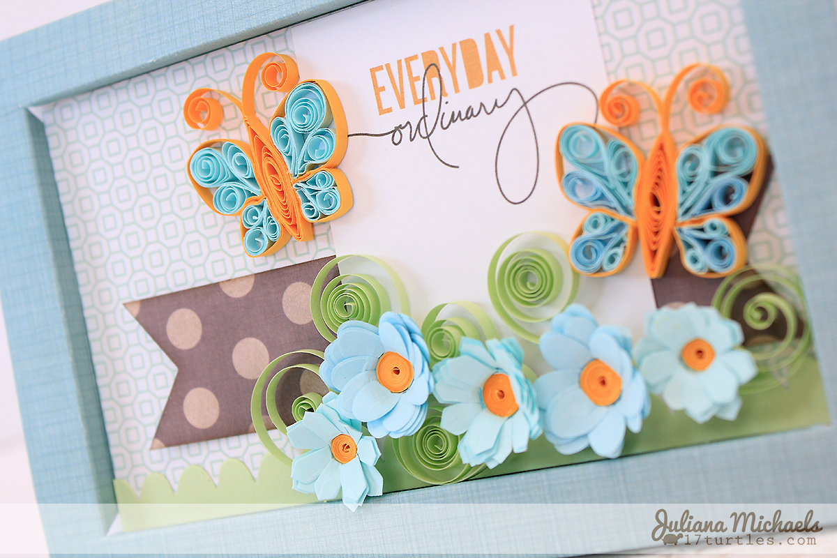 Quilled Butterfly Tutorial by Juliana Michaels using 3 Birds Studio Graceful Season Quilled Cardmaking Kit