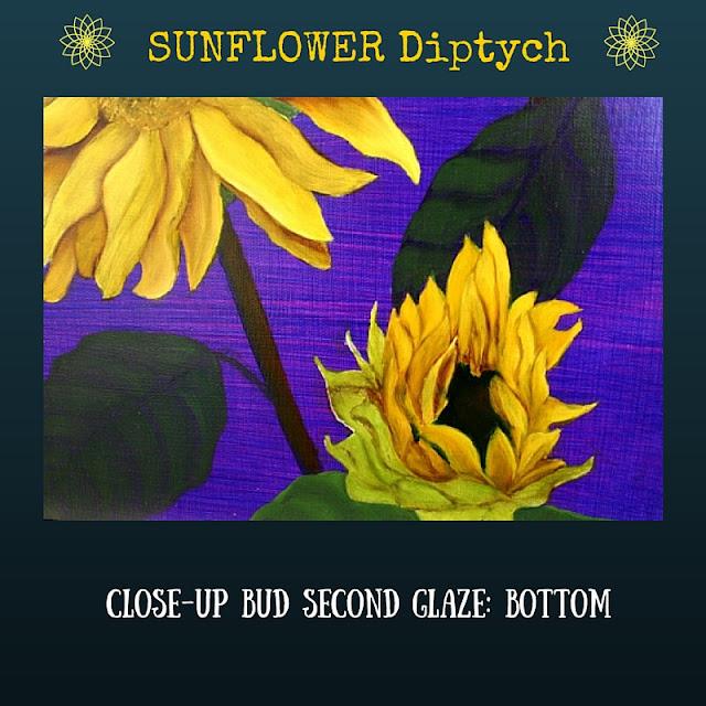 CLOSE UP Second color glaze BOTTOM Sunflower
