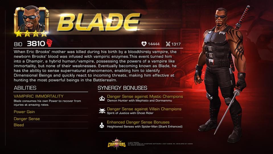 ograniczona guantity na wyprzedaży różnie How to use Blade - Marvel Contest Of Champions - MCOC GUIDE BLOG