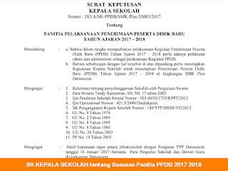 Contoh SK Panitia PSB