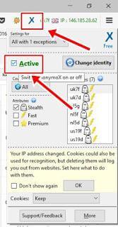 aktif Anonymox Membuka Situs yang Diblokir firefox Laptop