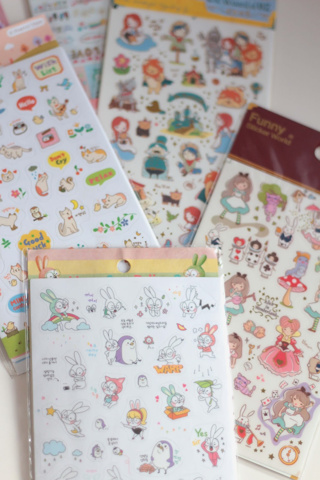 how to set up a planner with stickers