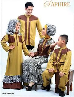 Desain Pakaian Keluarga Muslim Modern Masa Kini