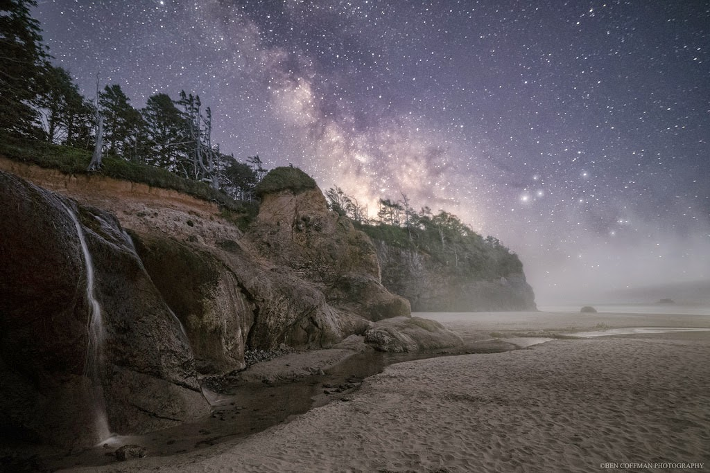 10. Oregon Coast - The World at Night with Clear Skies and No Light Pollution