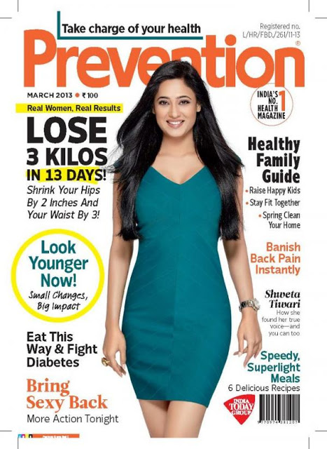 glorious and winning Shweta tiwari latest pics for prevention magzine cover