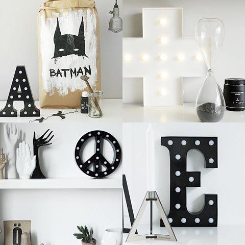 cirkuslampa, cirkuslampor, lampa, lampor, bokstavslampa, bokstavslampor, annelies design, webbutik, webshop, inredning, svart och vitt, svartvit, svartvita, peacemärket, peacemärke, peace, bokstäver,