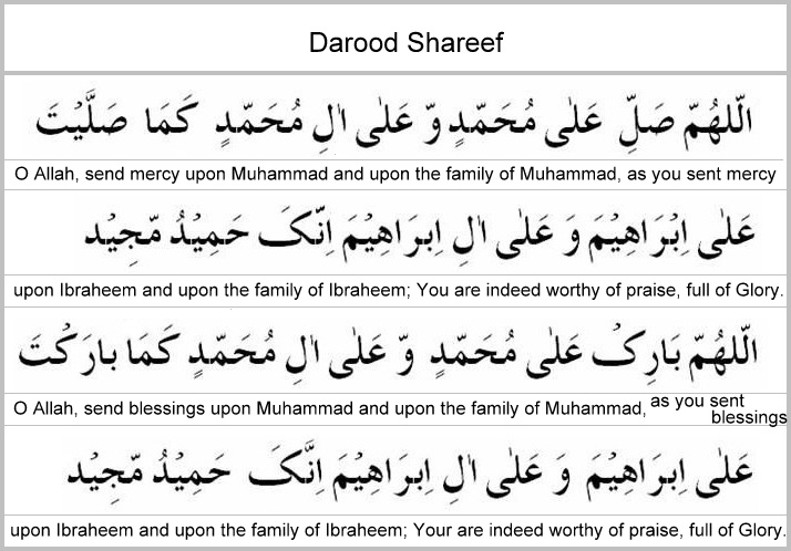 Darood sharif with english translation | Hadith Info - Dua, Azkaar