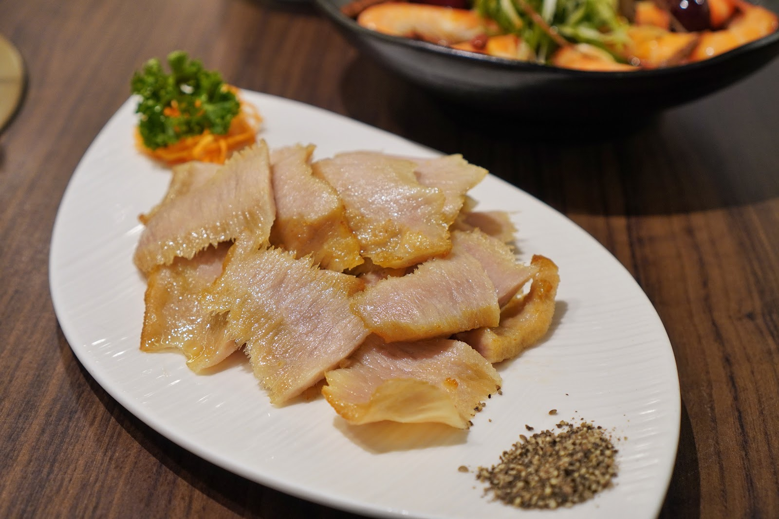 台南東區美食【廚房有雞花雕雞】椒鹽松阪豬