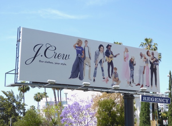 JCrew Our clothes Your style S17 billboard