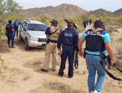 Tras persecución y enfrentamiento, agentes de la AMIC aseguran vehículo blindado, armas y cartuchos útiles