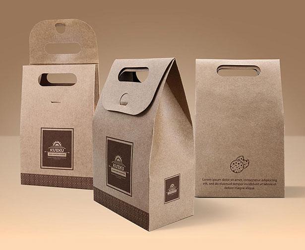Gratis Mockup Packaging/Kemasan PSD 2018 - Kraft Paper Coffee Bag Packaging Mockup PSD