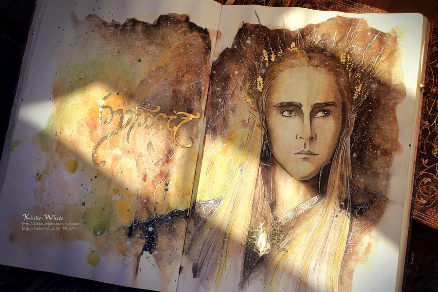03-Elven-King-Kinko-White-The-Hobbit-Watercolors-www-designstack-co