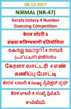 4 Number Guessing Competition NIRMAL NR-47