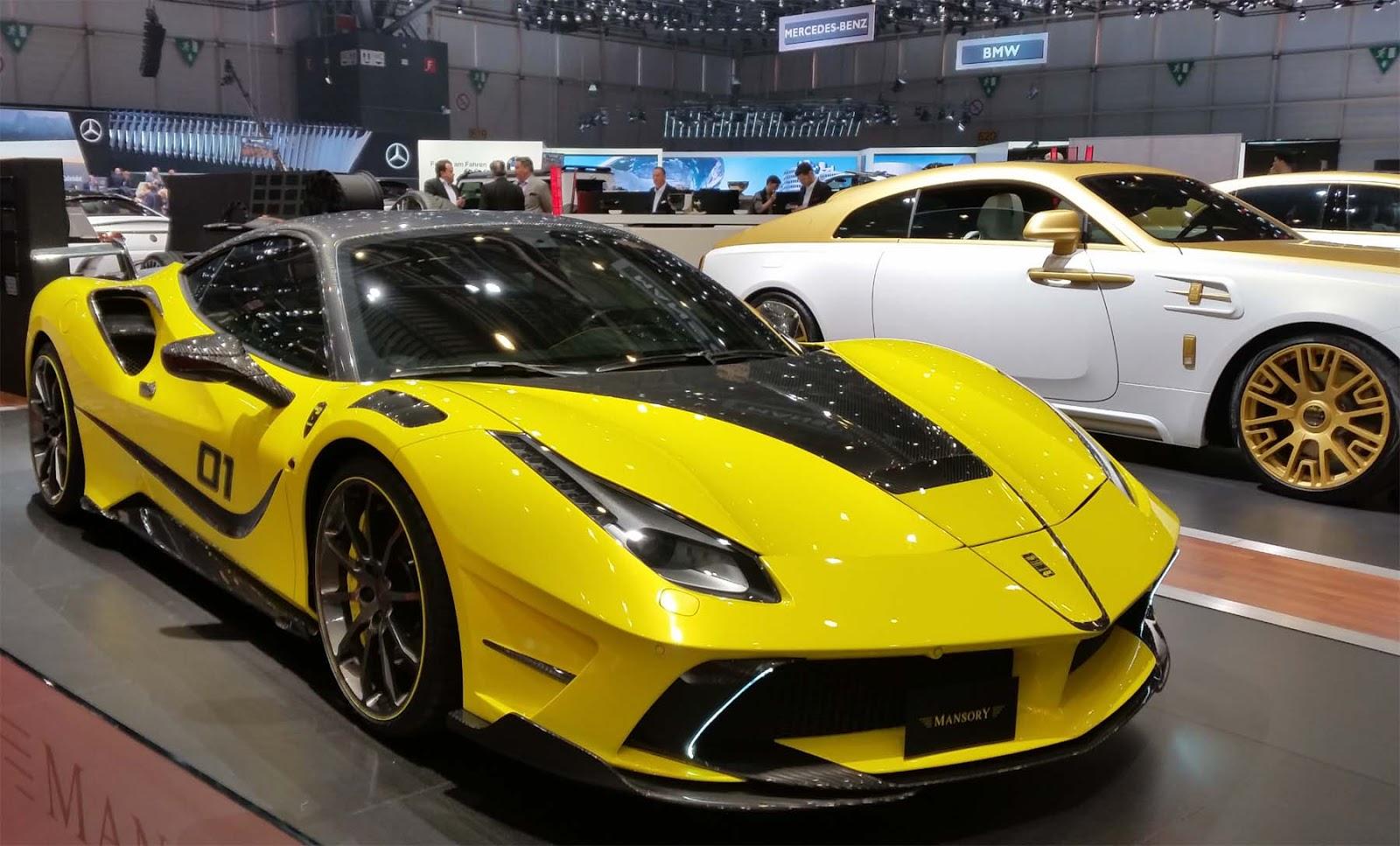 Yellow Mansory Ferrari
