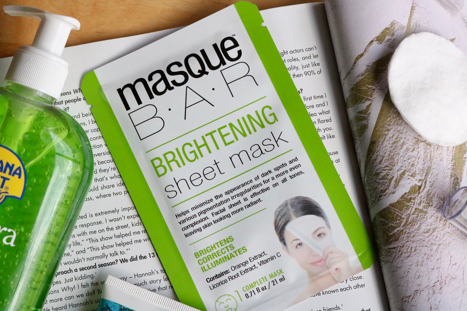 Masque Bar brightening sheet masks