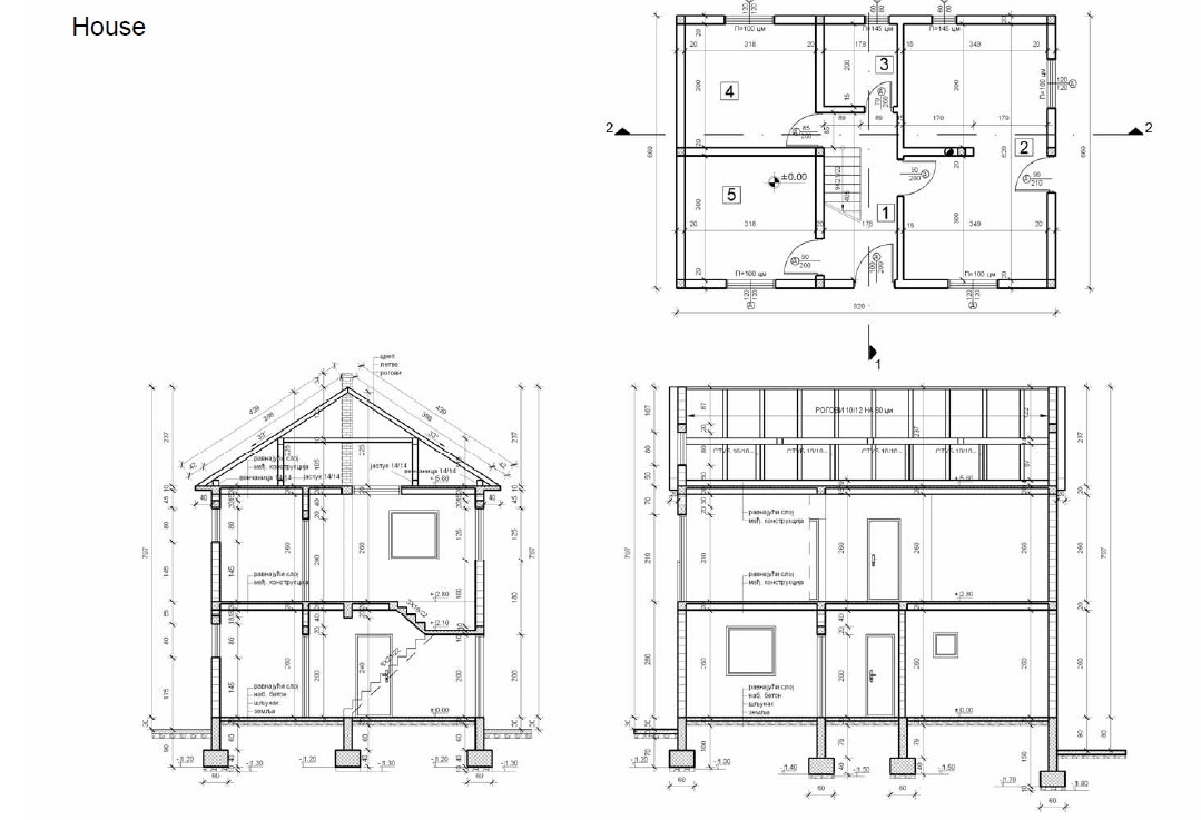 Addition House Drawing