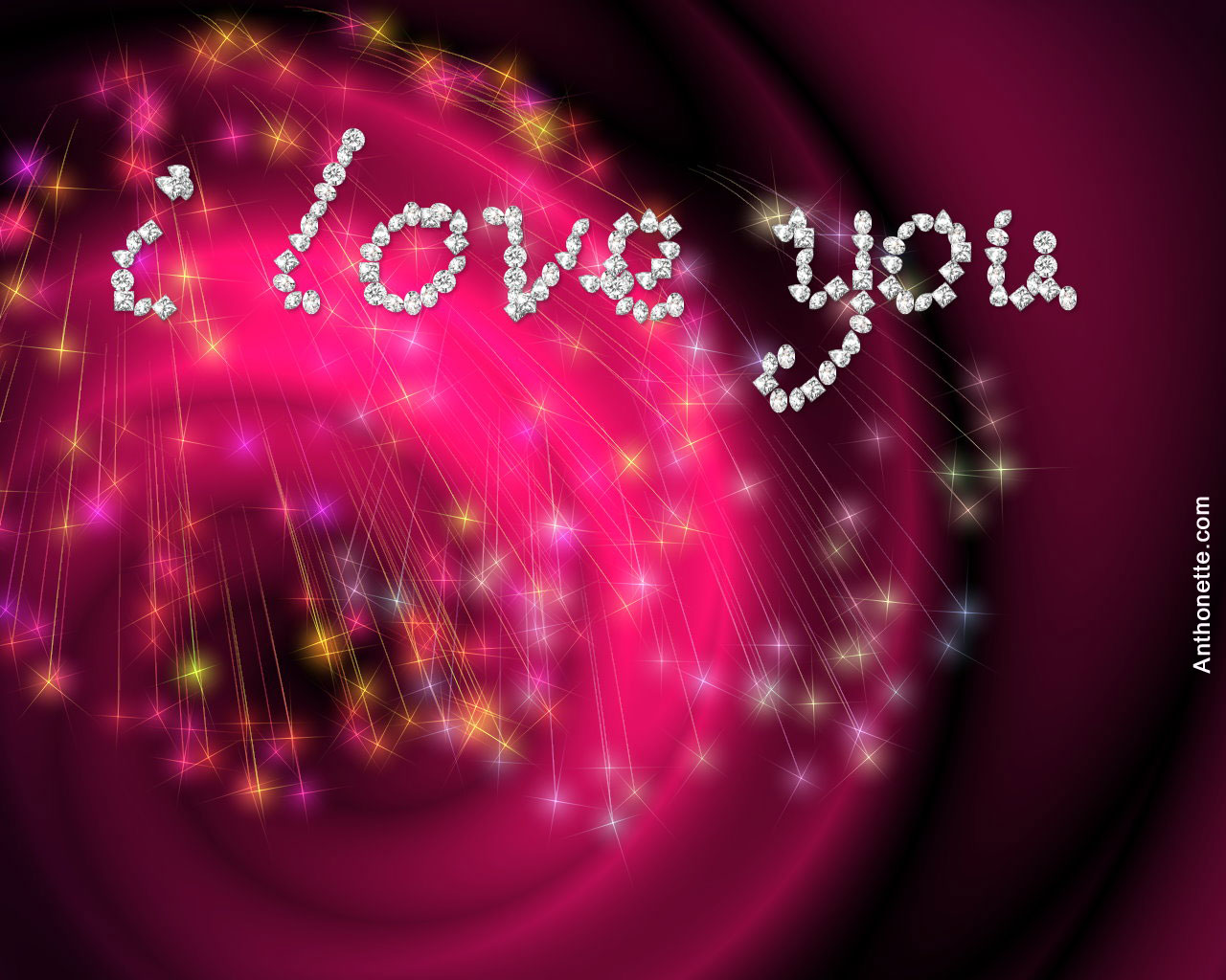 My Name 3d Wallpapers: Wallpaper I Love You Papel De Parede #2