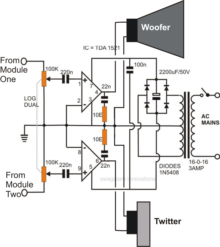 medium resolution of car subwoofer amp lifier circuit diagram pdf a couple of modules discussed in the above