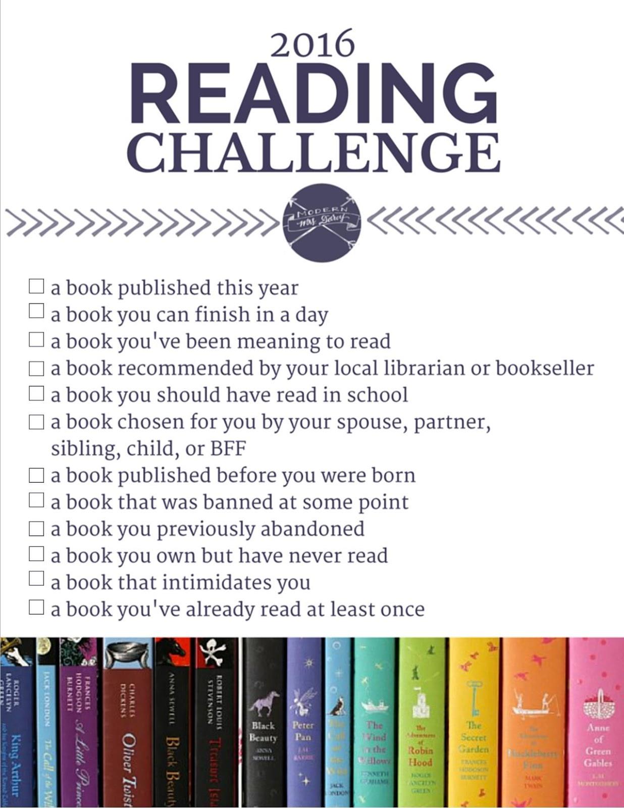 The 2018 Reading Challenge