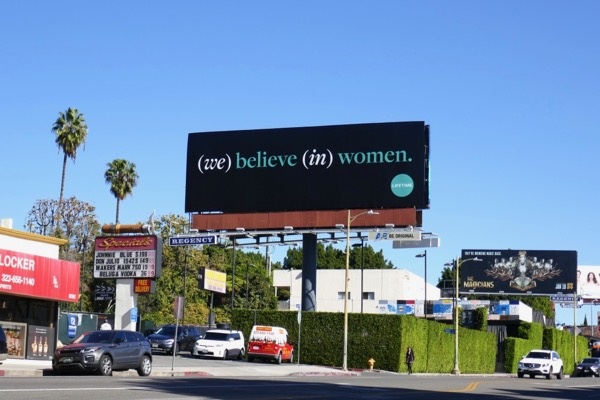 We believe in women billboard