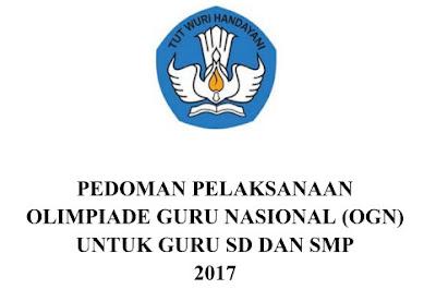 Pedoman OGN bagi Guru SD dan SMP 2017