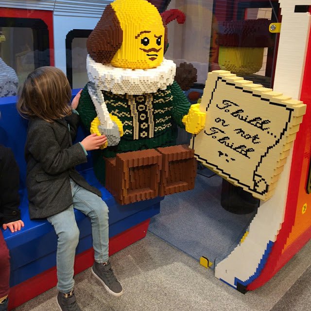 Lego shop tube train, London