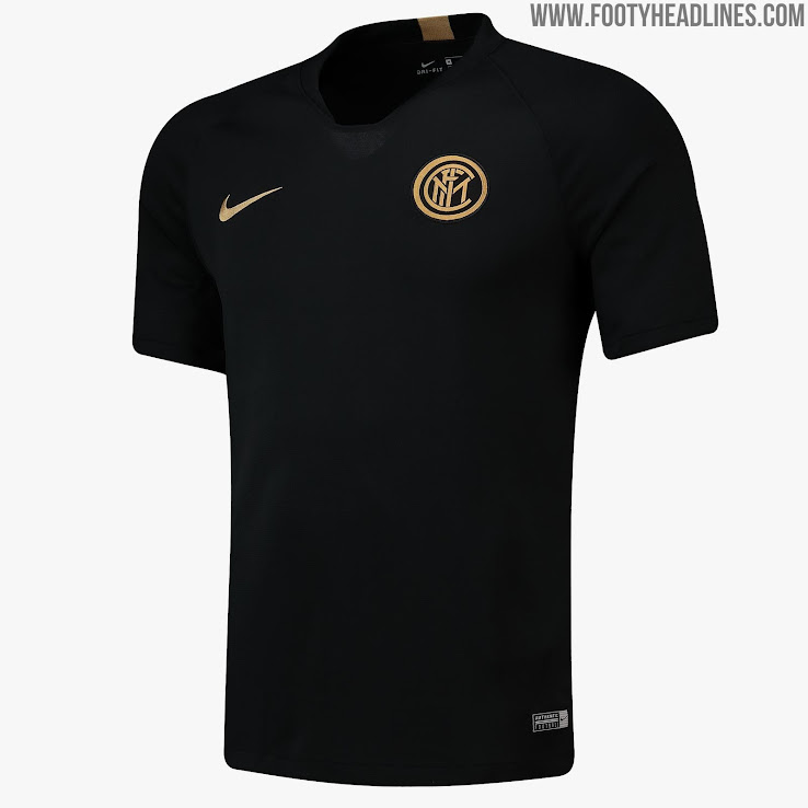 Black / Gold Inter Milan 19-20 Training Collection Released ...