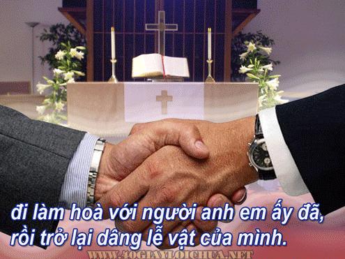 Hãy Tỉnh Thức và Hãy Sẵn Sàng: CHỈ NÊN DÂNG LỄ VẬT SAU KHI ĐÃ LÀM HÒA