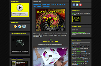 Parralox #28 song of 2015 on DarkSynthRadio