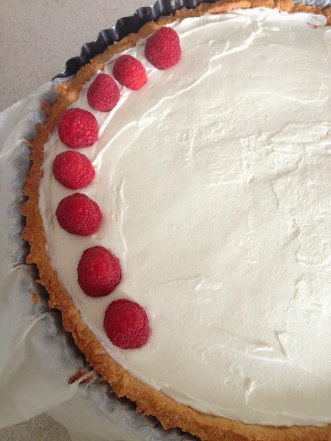 Sweet Kwisine, amandes, tarte, pâtisserie allemande, gâteau d'anniversaire,framboise, chantilly
