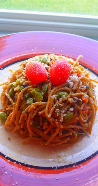 Whole Wheat Spaghetti with VeggiesInternational Cuisine