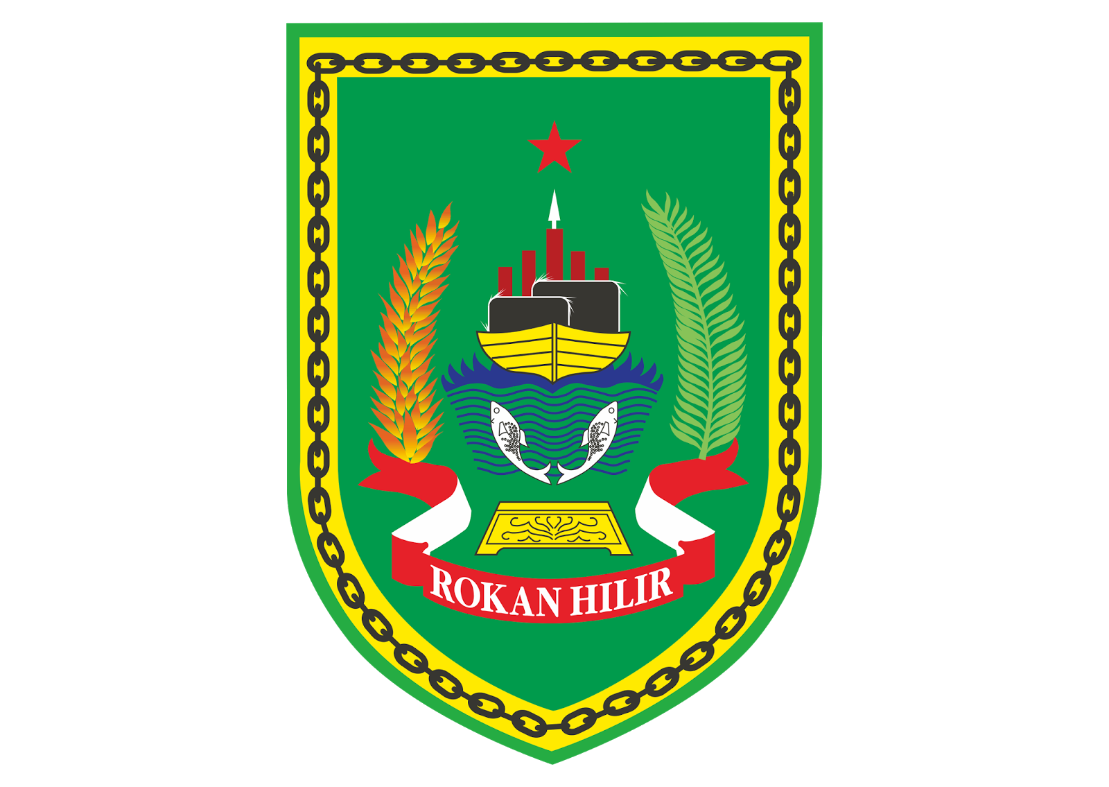 Logo Kabupaten Rokan Hilir Vector CorelDraw (CDR