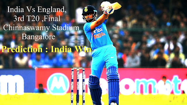 India vs England 3rd T20 Final Match , Live From Bengaluru