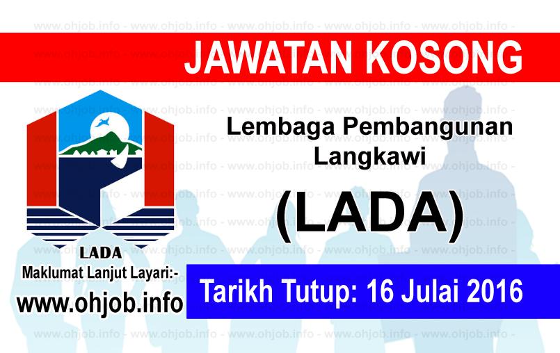 Jawatan Kerja Kosong Lembaga Pembangunan Langkawi (LADA) logo www.ohjob.info julai 2016