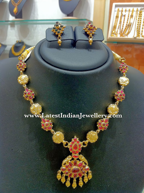 Two Sided Traditional Addigai Necklace