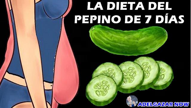 LA DIETA DEL PEPINO DE 7 DÍAS QUE ELIMINA KILOS DE GRASA RÁPIDAMENTE