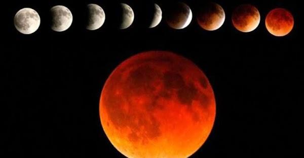 El gran eclipse lunar se observara en el continente de america.
